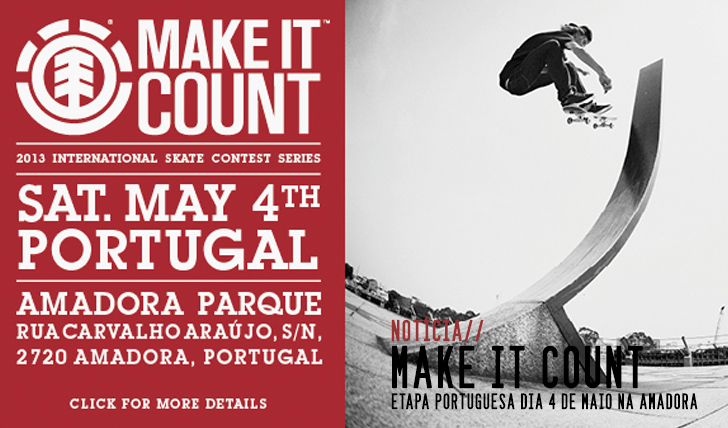 526ELEMENT Make it Count – 4 de Maio Amadora