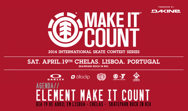 5242ELEMENT Make it Count 19 de Abril|Lisboa