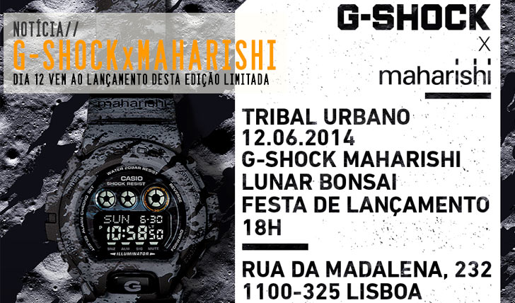 6084CASIO G-SHOCK apresenta edição MAHARISHI|12 Jun TRIBAL URBANO
