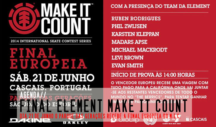 6090ELEMENT Make it Count|Final Europeia 21 de Junho Parque das Gerações