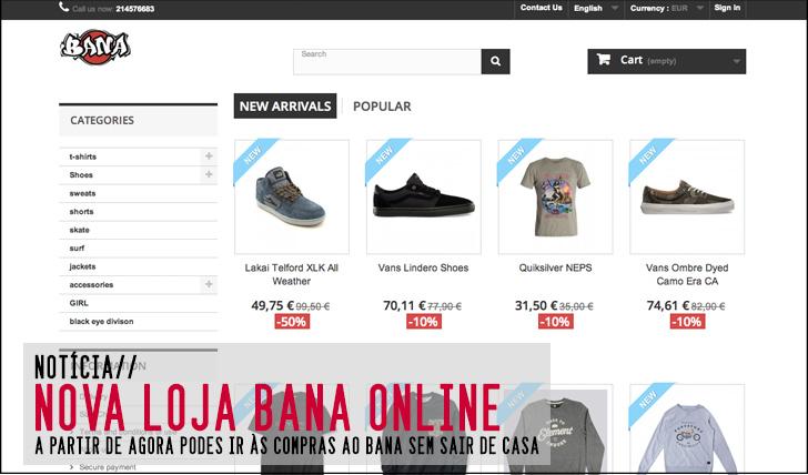 6198BANA abre uma nova loja online