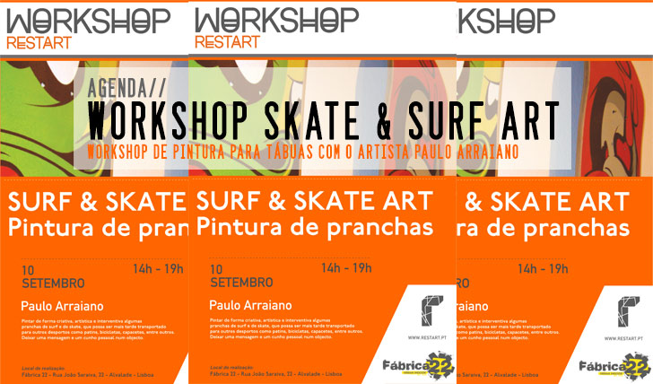 7082Workshop de pintura de Tábuas de Skate e Surf