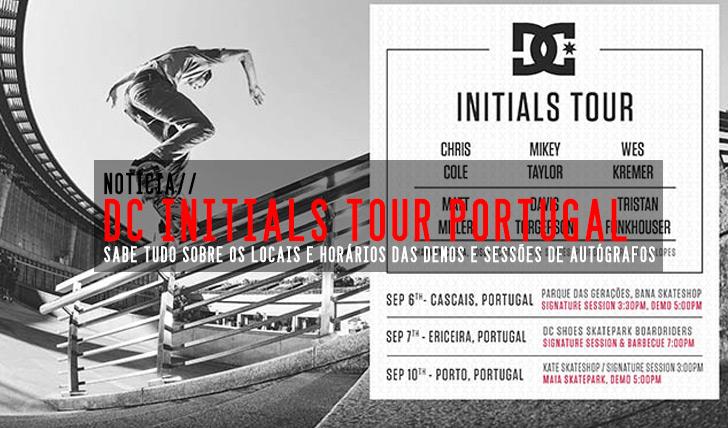 7184DC INITIALS TOUR Portugal|Horas previstas das demos e sessões de autógrafos