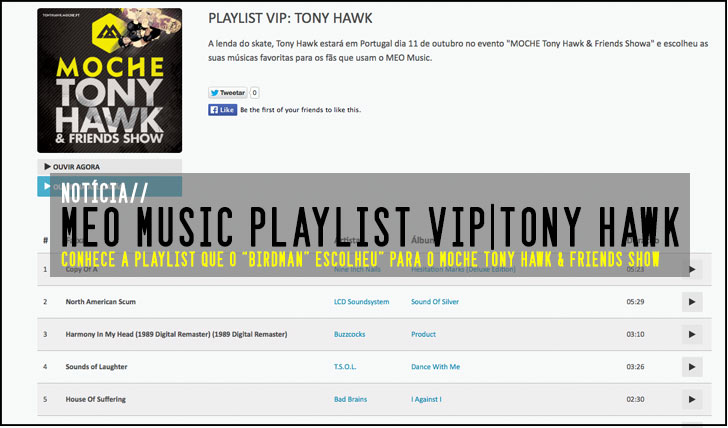 7720MEO Music Playlist VIP: Tony Hawk