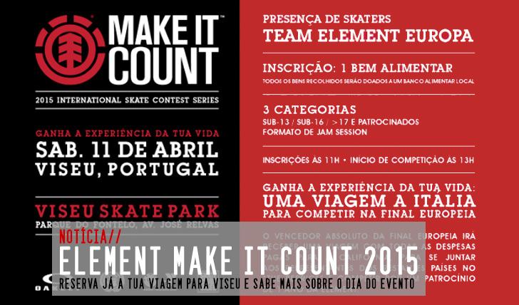 8953Element Make It Count 2015|Reserva a tua viagem para Viseu