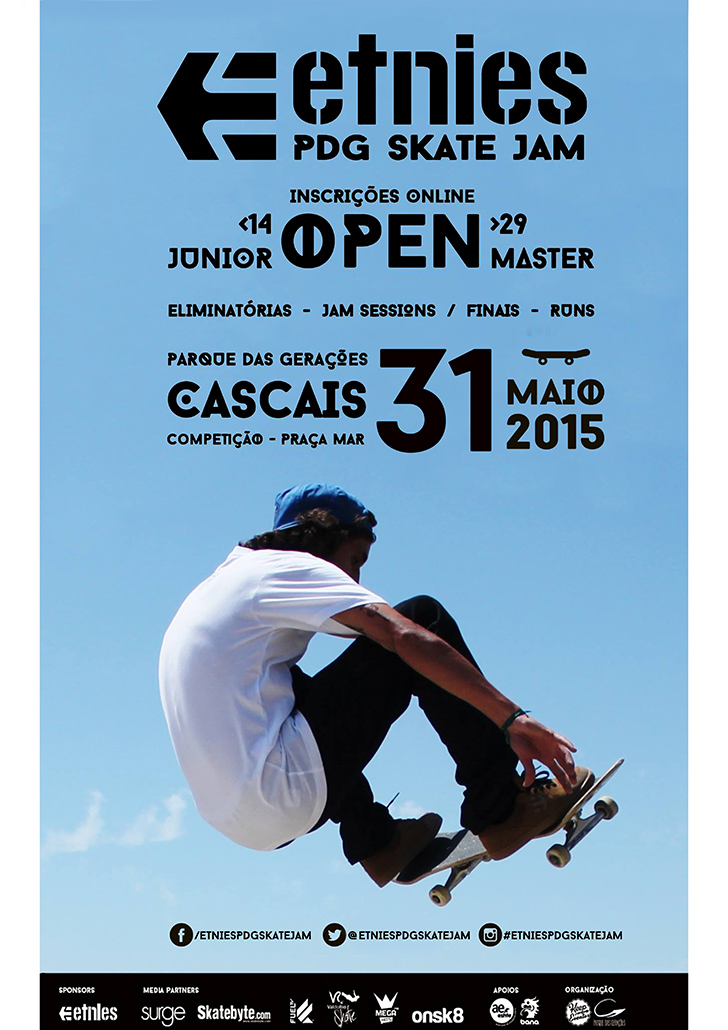 cartaz Etnies PDG Skate Jam final