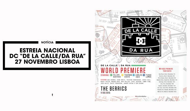 """11344Estreia DC """"De La Calle/Da Rua"""" em Lisboa 27 Nov"""