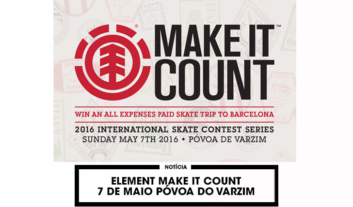 12356ELEMENT MAKE IT COUNT|Com data marcada e novo formato