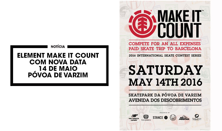 12513ELEMENT Make it Count com nova data para a etapa nacional