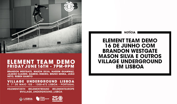 14849ELEMENT Team Demo 16 de Junho no Village Underground