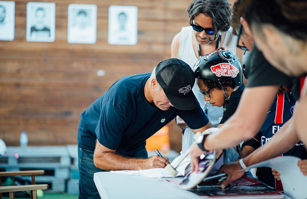 As várias gerações do skate nacional, marcaram presença no PDG e o LP ainda teve de dar uns quantos autógrafos...