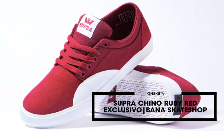 15899SUPRA CHINO RUBY RED|EXCLUSIVIO NA BANA SKATESHOP