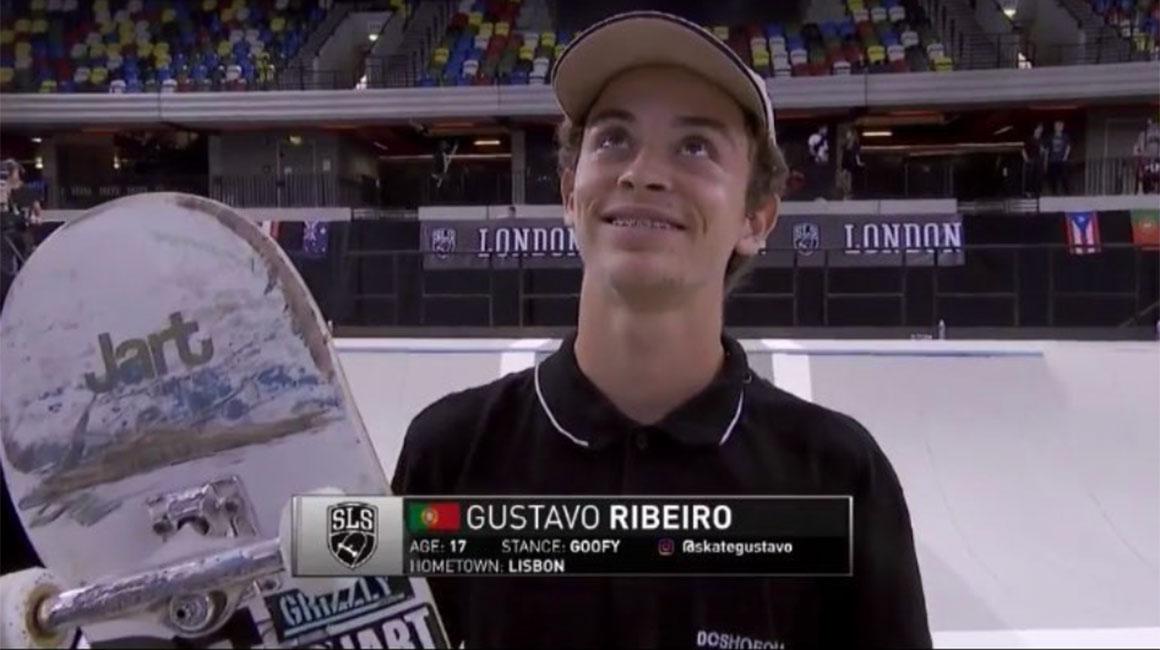 16679Gustavo Ribeiro passa na 3ª posição ao dia final do Street League em Londres