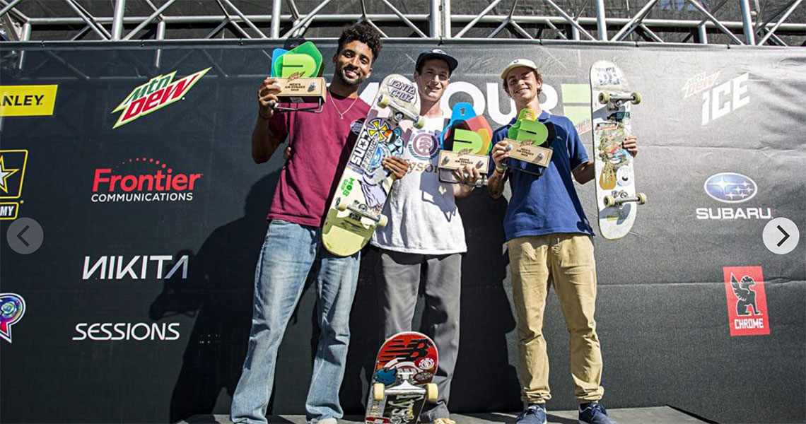 16871Gustavo Ribeiro 3ª Classificado no  AM Street Dew Tour 2018|Long Beach