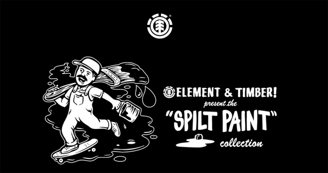 17977Element Timber! Coleção Spilt Paint
