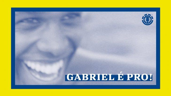 """19831Element Skateboards """"Gabriel É Pro!""""  3:20"""